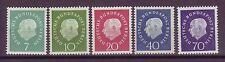 Berlin 1959 postfrisch  Freimarken Theodor Heuss MiNr. 182-186