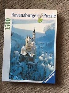 Ravensburger Puzzle - 1500 Piece - Neuschwanstein in Winter 162192 - New/Sealed