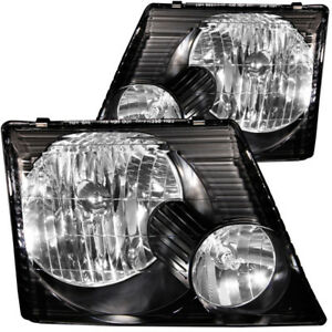 ANZO for 2002-2005 Ford Explorer Crystal Headlights Black - anz111058