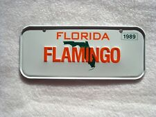 1989 FLORIDA Post Cereal License Plate # FLAMINGO