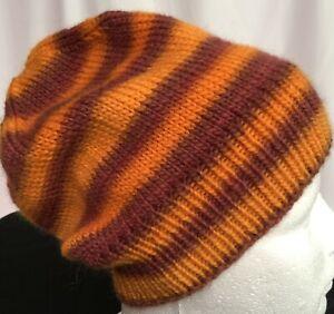 hand-knitted 100% Australian mur-wool slouchy-beanies 50cm-54cm head sew-ezy-aus