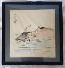 Chinese Art Water Buffalo brush scroll Hand Painting on paper