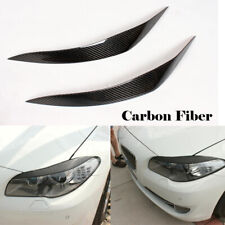 2PCS Carbon Front Headlight Eyelids Eyebrows For BMW F10 528i 530i 5520i 11UP