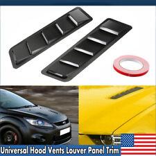 Universal Car Hood Vent Louver Scoop Cover Air Flow Intake Cooling Panel Trim US