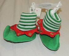 New Unisex Baby Elf Shoes Slippers Costume First Christmas Size 0-6 Months Green