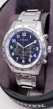 Citizen Mens Quartz Blue Dial Chronograph Watch AN8160-52L. New in Box. 176
