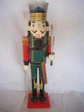 "Collectible Christmas Green Wooden Nutcracker Soldier 15"" DanDee International"