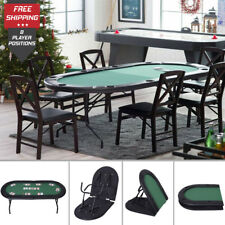 Portable Poker Table Casino Arcade Games Player Texas Holdem Blackjack Card Play