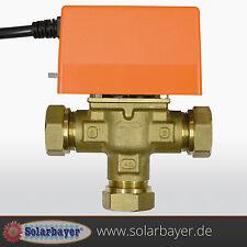 Solar 3-Wege Umschaltventil Zonenventil Ventil 22mm Solaranlage Heizung Klima