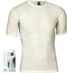 100% Merino wool. JBS Olympia ivory shortsleeve T Shirt  Base Layer (Oly4)