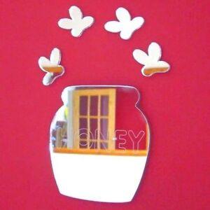Honey Pot & Bees Shaped Acrylic Mirrors (Several Sizes Available)