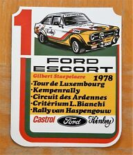 FORD Escort Mk2 CASTROL Kinley Belgio Rally Motorsport Adesivo/Adesivo