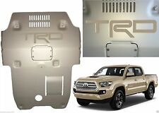 Quicksand Tan Premium Vinyl TRD Skid Plate Inserts For 2016-2017 Toyota Tacoma