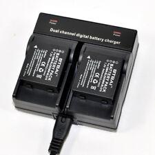 Dual Charger +2x Battery for Panasonic DMW-BLE9E Lumix DMC-LX100 DMC-GF3 DMC-GX7