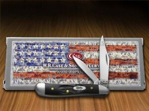 Case xx Peanut Knife Rough Black Delrin Series Stainless Pocket Knives 18225