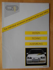 CD-DESIGN Vauxhall Opel c1988 UK Mkt brochure - Astra Kadett Omega CD-1