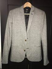 H&M Men's Grey Tweed Blazer EUR46
