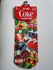 Ladies Coca Cola Bottle Top Vintage Design Novelty Pair of Socks New 4-8
