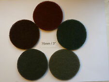 "Non-woven Abrasive Discs Hook and Loop Backed 3"" / 75mm Mixed Grit Pack of 10"