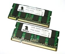 8GB KIT DDR2 667MHZ PC2 5300 (2X4GB) SODIMM FOR LAPTOP