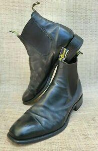 RM Williams Boots BLACK Craftsman AUSTRALIAN MADE size 10.5 US