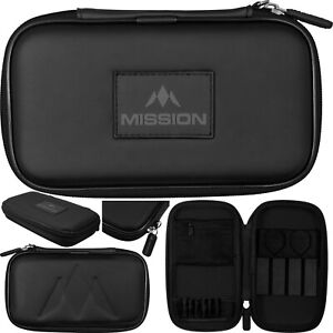 Mission Freedom XL Darts Case - Black. Holds Fully Assembled Darts.