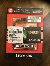 "3 BOXES- 100 Count Each GLOSSY PHOTO PAPER 4 x 6"" LEXMARK"