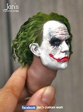 "1/6 CUSTOM Joker Batman action figure head sculpt DX dam Hot toys enterbay 12"""