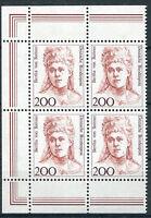 Bund 1498 postfrisch Eckrand Viererblock Ecke 1 + 3 BRD VB Frauen a.Zehnerbogen
