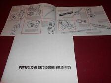 1970 DODGE SALES AIDS BROCHURE SCAT PACK, DODGE BOYS, Etc. 70 PROMOS MEMORABILIA
