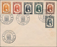 1944 Iceland First Day Cover FDC Complete set  # 240-245