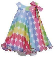 NWT $65 Girl Bonnie Jean Multi Polka Dot Float Party Easter  Dress 5 New