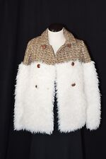 Opening Ceremony Faux Fur Shearling Button Tweed Jacket Size: XS