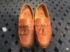 BRUNO MAGLI Tan Leather Tassels Loafers MENS 10.5 Slip On Shoes ITALY