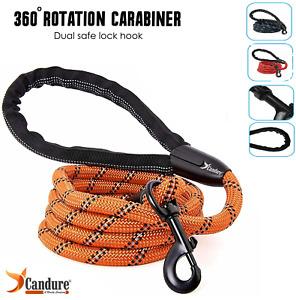Dog Leash Rope Large Leads Nylon Soft Walking Reflective Braided 5ft Dog Leads.