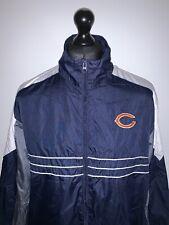 Reebok NFL Chicago Bears Retro Vintage Blue Soft Shell Jacket Coat XL