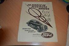 Publicité  Ford salon 1933