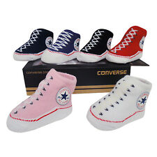 Converse Chuck Taylor Black Baby Sock/Bootie set -0/6 months BNWTS