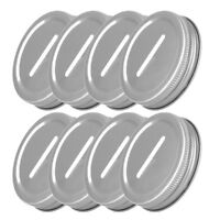 8 Rustless Stainless Metal Coin Slot Bank Lid Insert for Mason Jars Canning 70mm