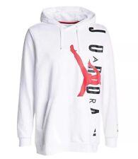 Jordan Jumpman Air Men's Fleece Pullover Hoodie AO0446-100 White Size XXL New