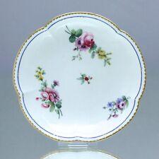 Sèvres: Untertasse zur Tasse Hébert, Blumen, soucoupe gobelet Hébert, saucer cup