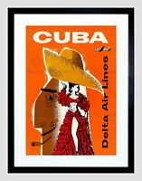"053.Cuban travel poster/""I Love My Cuba/""Rum ad.Beach.Home Office Decoration"