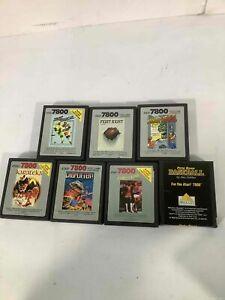 Lot of 7 Atari 7800 Video Games