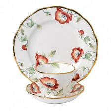 ROYAL ALBERT ART. 21465 TAZZA TE' CON PIATTINO + PIATTO 20 CM POPPY1970