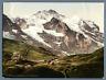 Berner Oberland, Scheidegg mit Jungfrau.  P.Z. vintage photochromie,  photochr