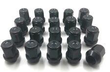 20 x ALLOY WHEEL NUTS BLACK SUBARU IMPREZA 92-07 M12 x 1.25 19MM HEX BOLTS  [73]