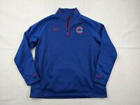 Nike Chicago Cubs Sweater Adult XL Men Blue Red 1/4 Zip Pullover Dri Fit MLB