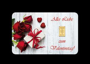 Alles Liebe zum Valentinstag | gold bar unc 1 g 99 Le Grand Mint-Shop Goldbarren