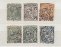 Monaco Early Collection Of 6 Values SG8-40 Used J3954