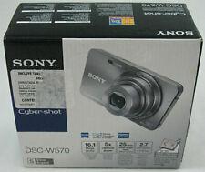Sony Cyber-shot DSC-W570 16.1 MP Digital Camera - Silver + 2GB Memory Card Used
